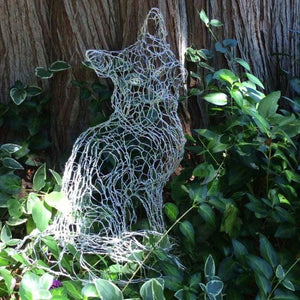 Silver Fox Wire Sculpture