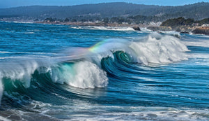 Breaking Wave with Rainbow