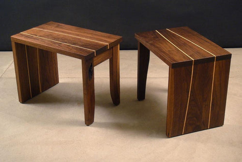 Character benches, walnut and maple