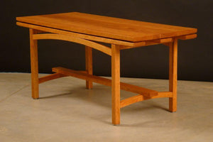 Finelines coffee table with arched detail under table top, cherry wood