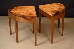 Oak Burl End Tables, Set of Two, Custom Order
