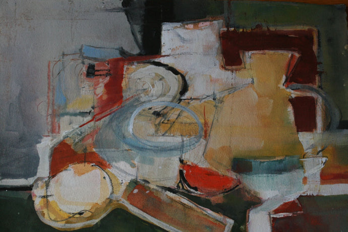Yellow and White Abstract Still Life - The Highlight Gallery