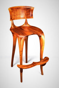 bar stool of African mahogany