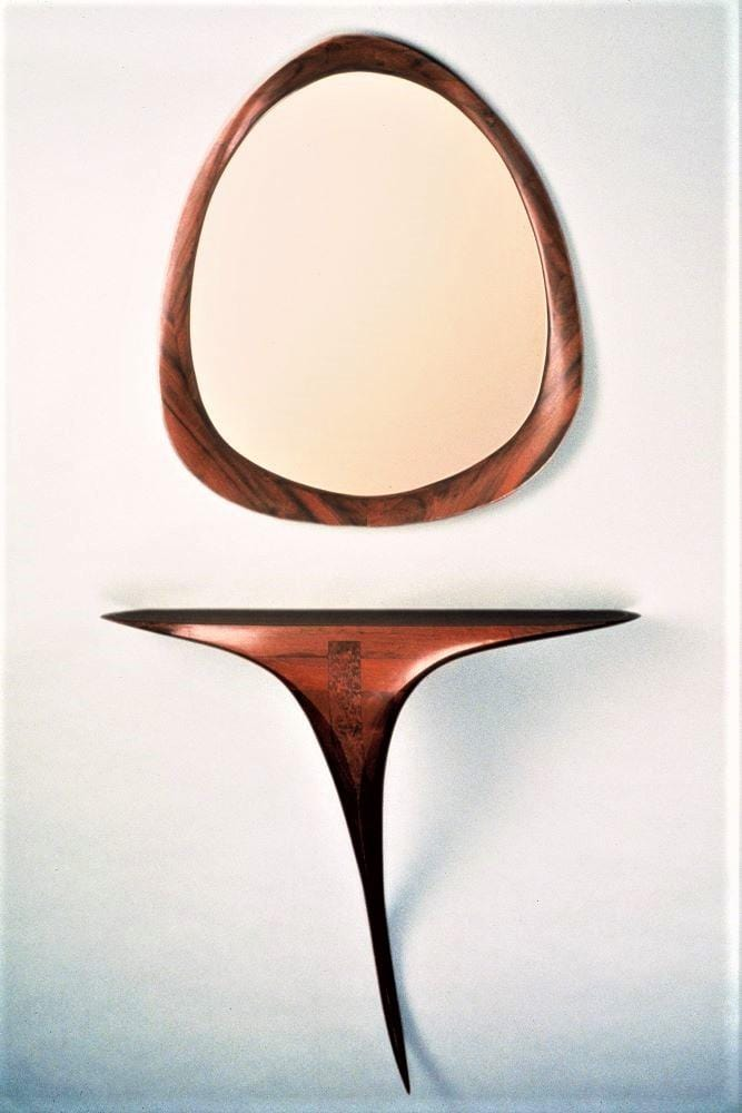 Wall Mounted Console Table and Free-form Mirror-Custom Order