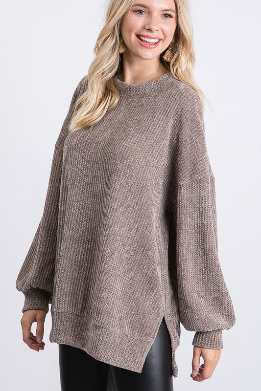 Chenille Knit Top