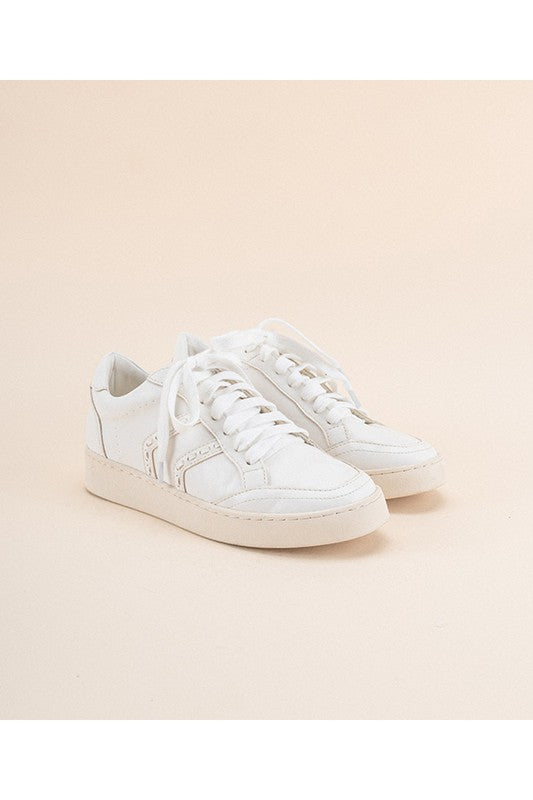 White Raven Leather Sneakers