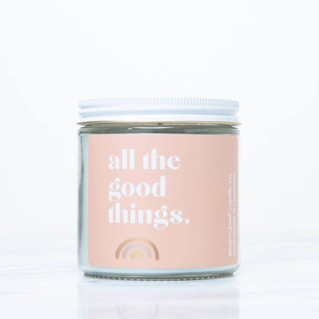 ALL THE GOOD THINGS • LARGE NON TOXIC SOY CANDLE
