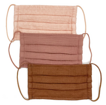 Load image into Gallery viewer, Cotton Mask 3pc Set- Dusty Rose