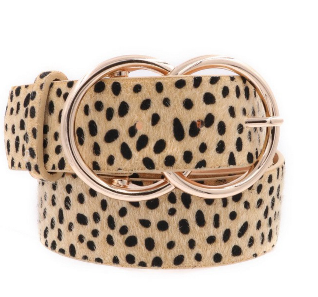 Cheetah Print Belt