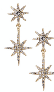Rhinestone Star Drop Earrings