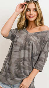 Charcoal Camo Top