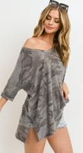 Load image into Gallery viewer, Charcoal Camo Top