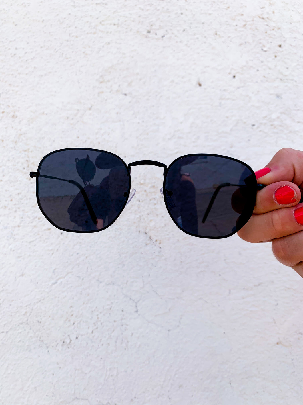 Hexagonal Metal Sunglasses