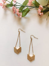 Load image into Gallery viewer, Chevron Drop Earrings