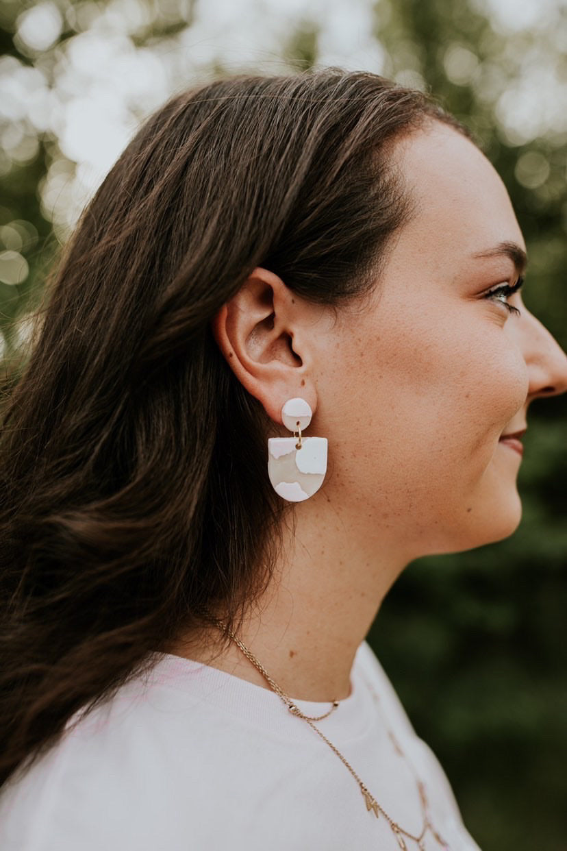 Arkansas Handmade Clay Earrings