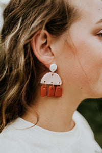 Denver Terra-cotta Handmade Clay Earring