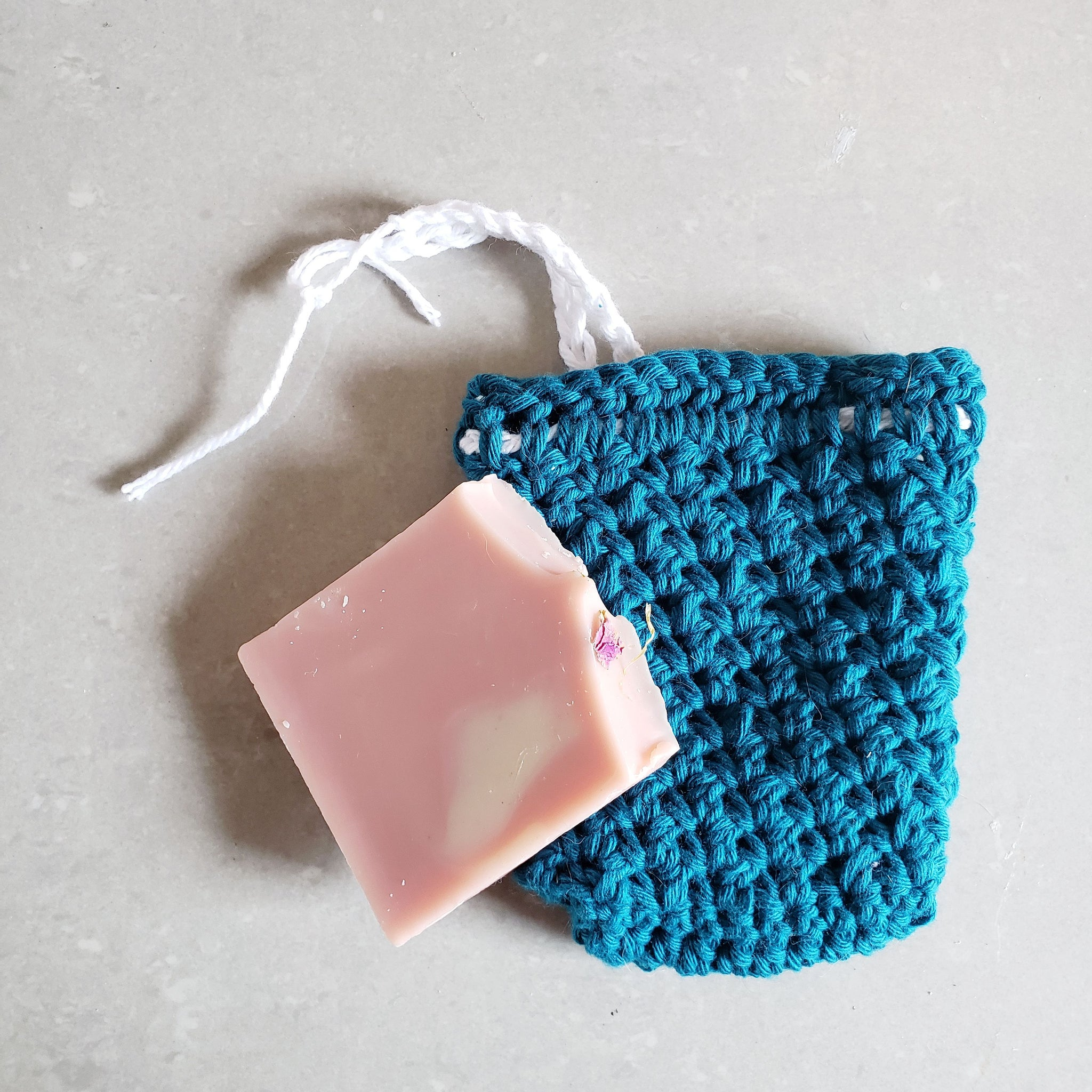 Teal Soap Saver Pouch