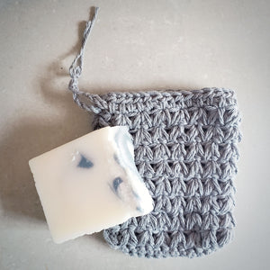 Gray Soap Saver Pouch