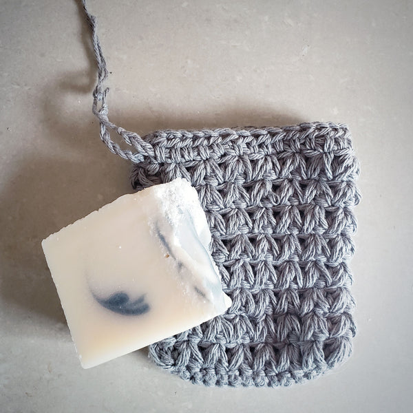 Grey Soap Saver Pouch