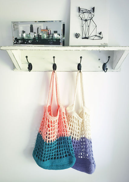 Peach & Teal Tote Bag