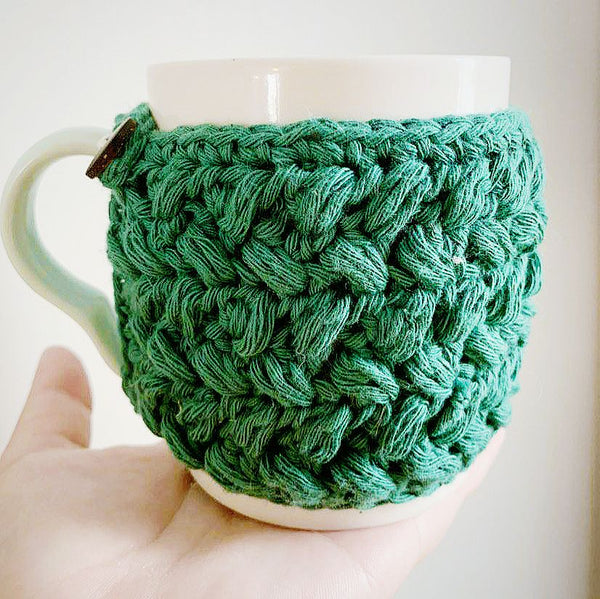 Forest Green Bean Mug Hug