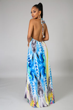 Color Splash Maxi Dress