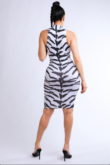 Animalistic Print Dress