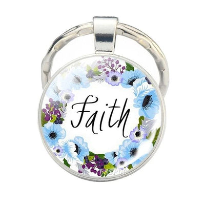 Bible Verse Metal Keychain