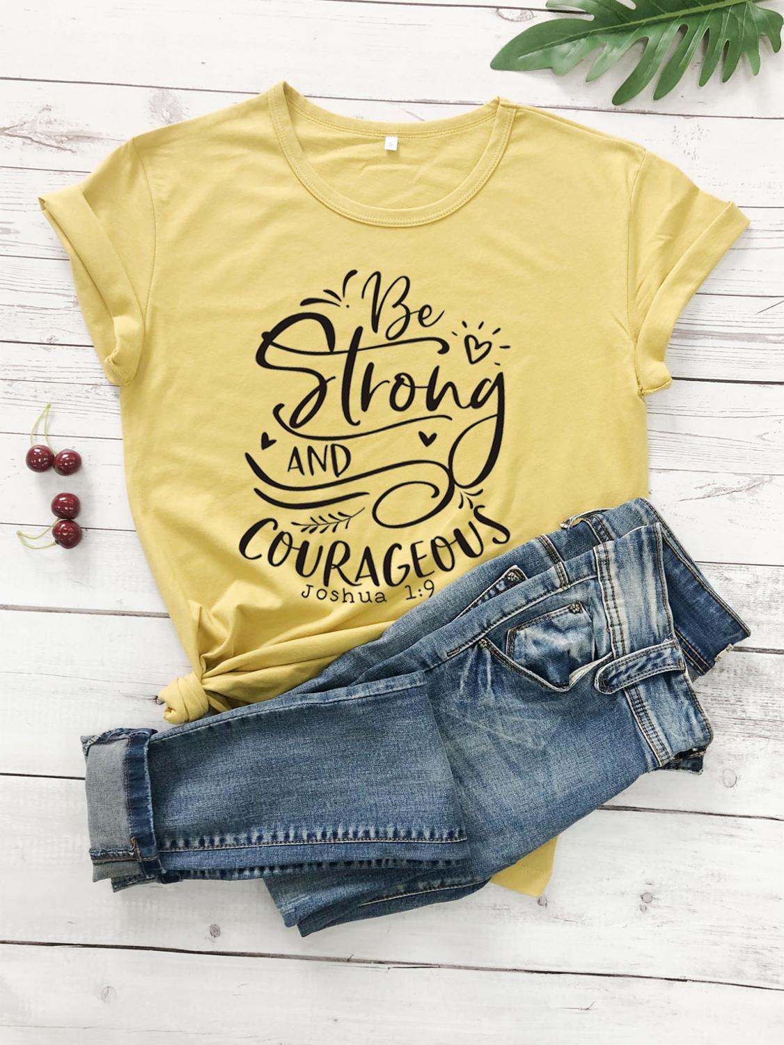 Tee Stylish Slogan Graphic Tops