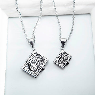 Lords Prayer Cross Pendants Necklaces