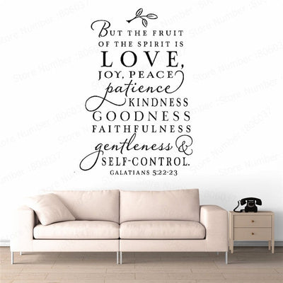 Bible Verses Spanish Vinyl Wall Stickers