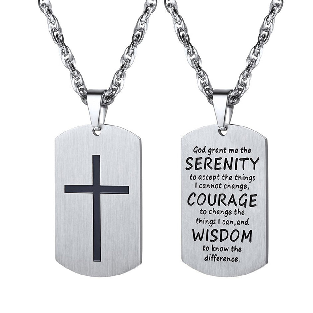 Bible Verse Cross Pendant