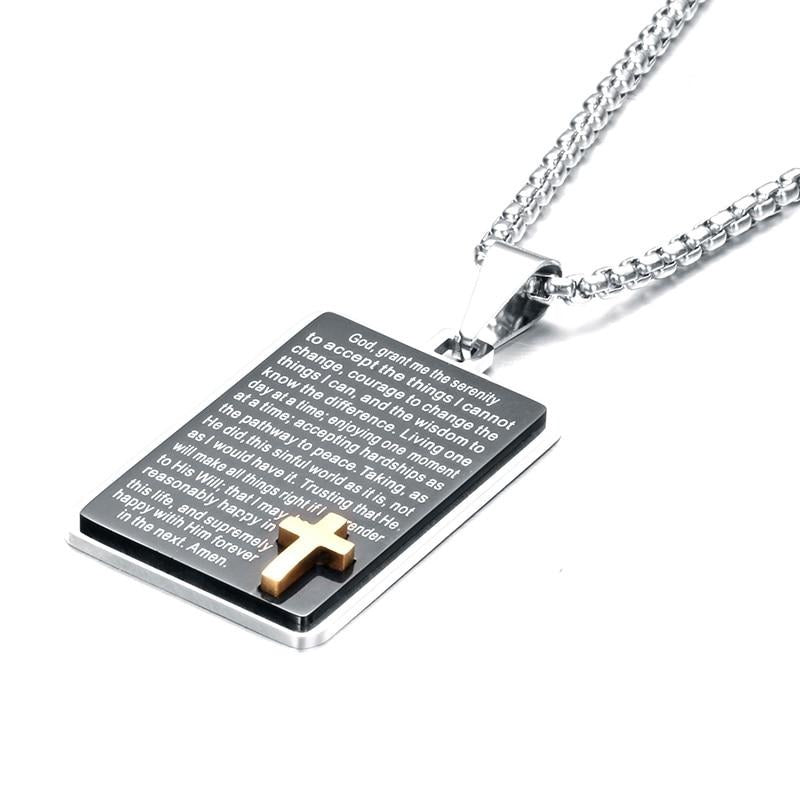 Bible Quotes Lords Prayer Necklace