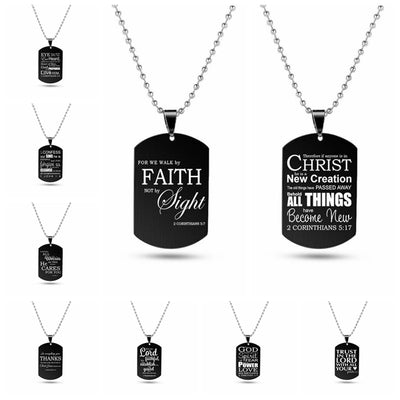 Black Metal Tag Pendants Jewelry
