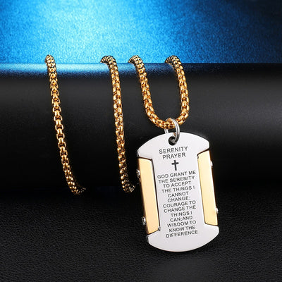 Stainless Steel Bible Verse Jewelry