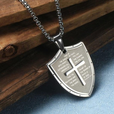 Stainless Steel Faith Cross Necklace