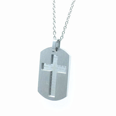 Bible Lords Prayer Cross Necklaces