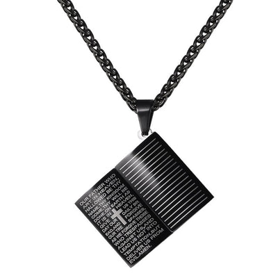 Holy Bible Book Pendant Necklaces