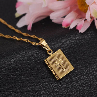 Crucifix Religious Gold Necklace
