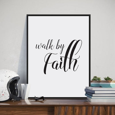 Bible Verse Wall Art  Canvas