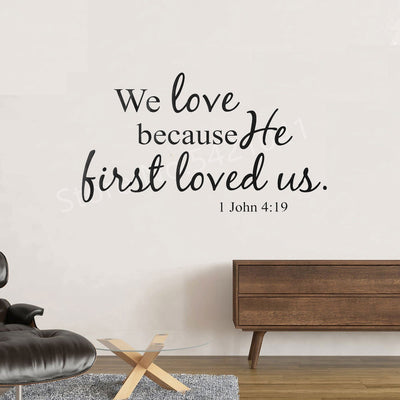 Christian Quote PVC Wall Art Stickers