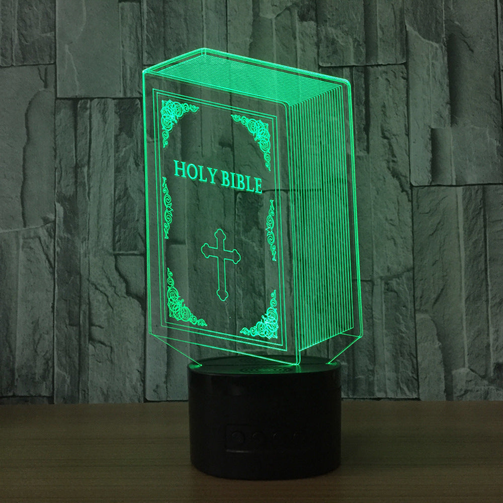 Bible Model With Colorful Bulbs Lamp