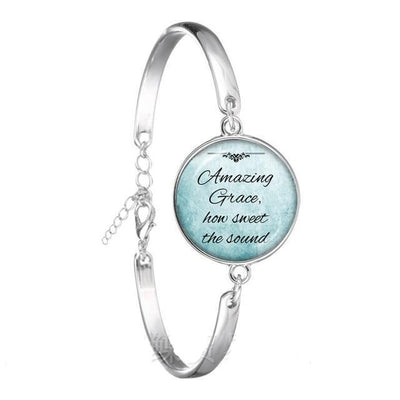 Christian Quote Chain Bracelet