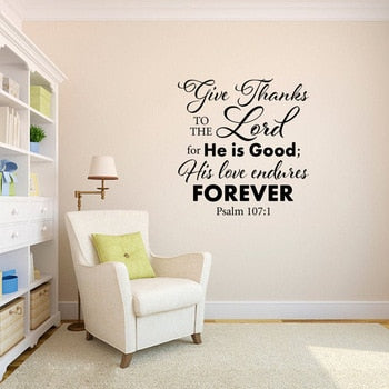 Bible Verse Quote Wall Decal Sticker