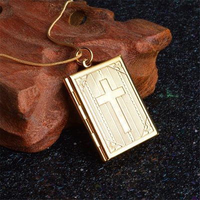 Christian Bible Book Pendant Necklaces