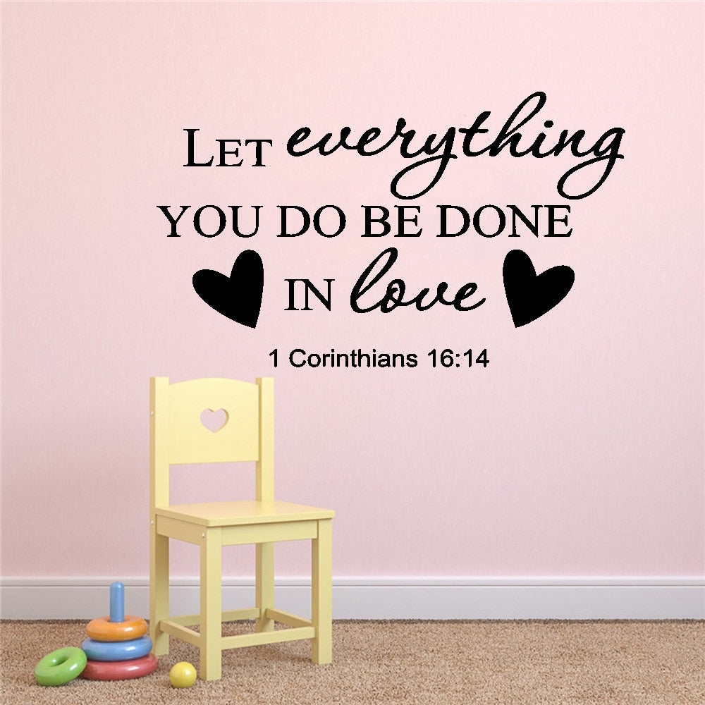 Christian Quotes Creative Wall Stickers