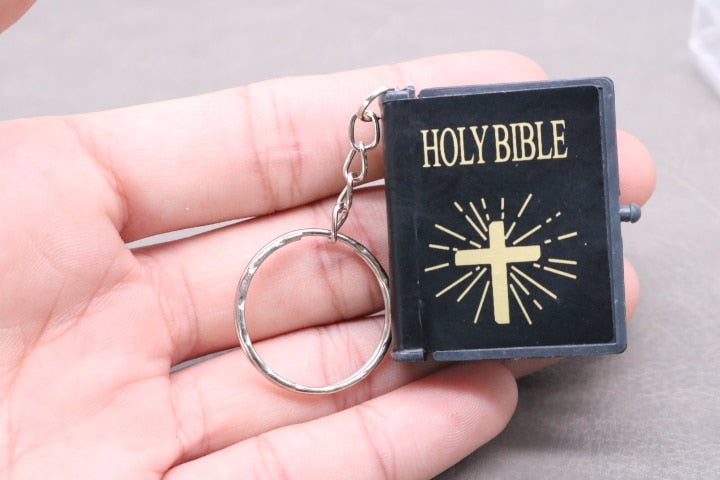 Bible Holy Book Key Chain