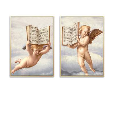 Flying Angel Baby Boy Wall Art
