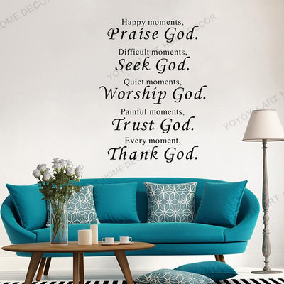 Christian Design Wall Mural Stickers