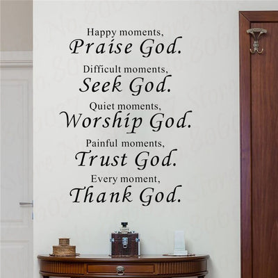 Christian Bless Bible Wall Stickers